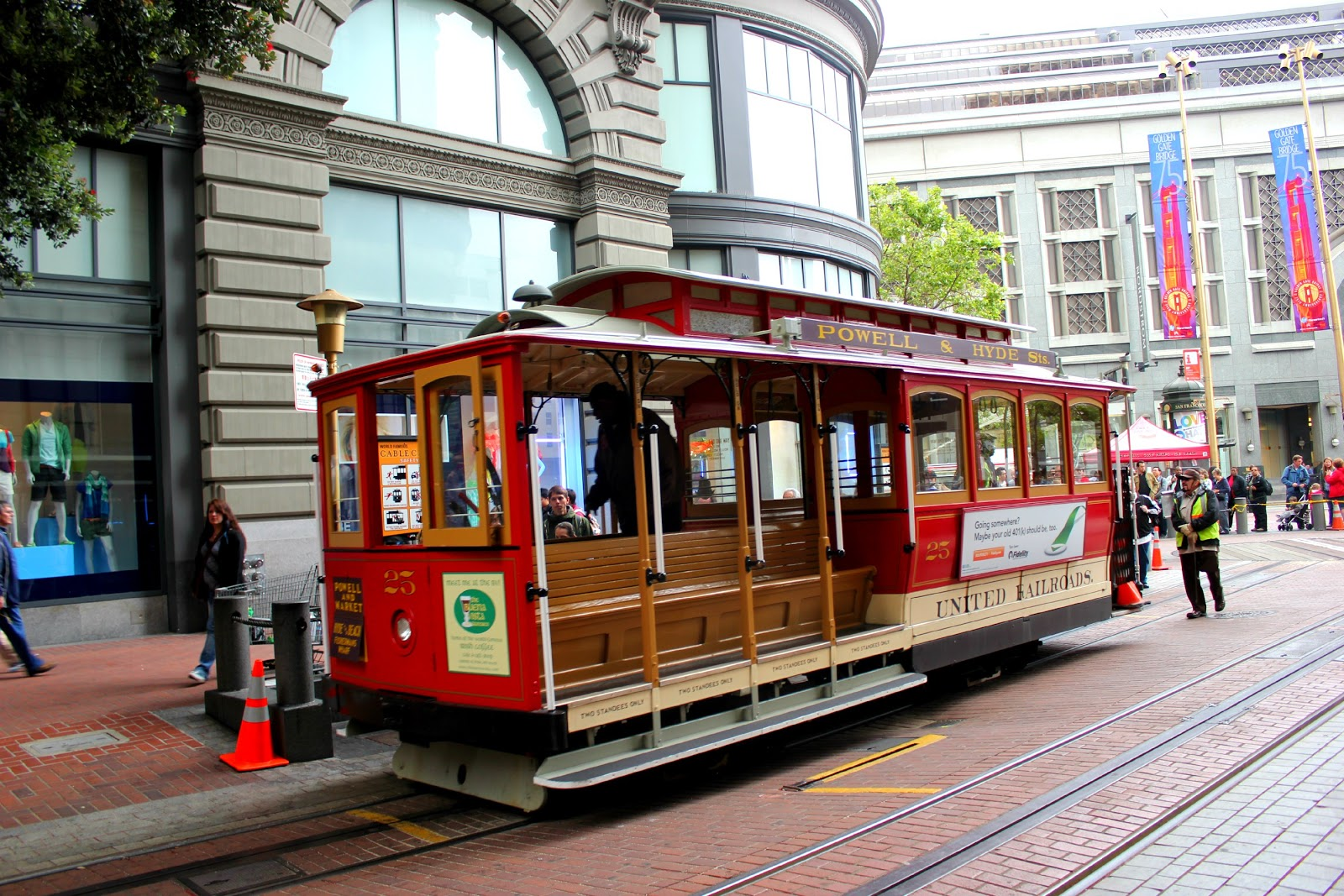 Saying i do california vacation part 5 cable cars and for Chambre cars