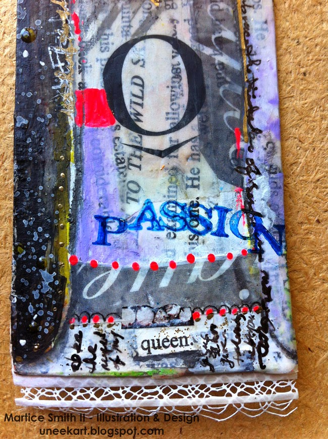 Whimsical Bookmarks, Frida dress detail; tutorial by artist Martice Smith II