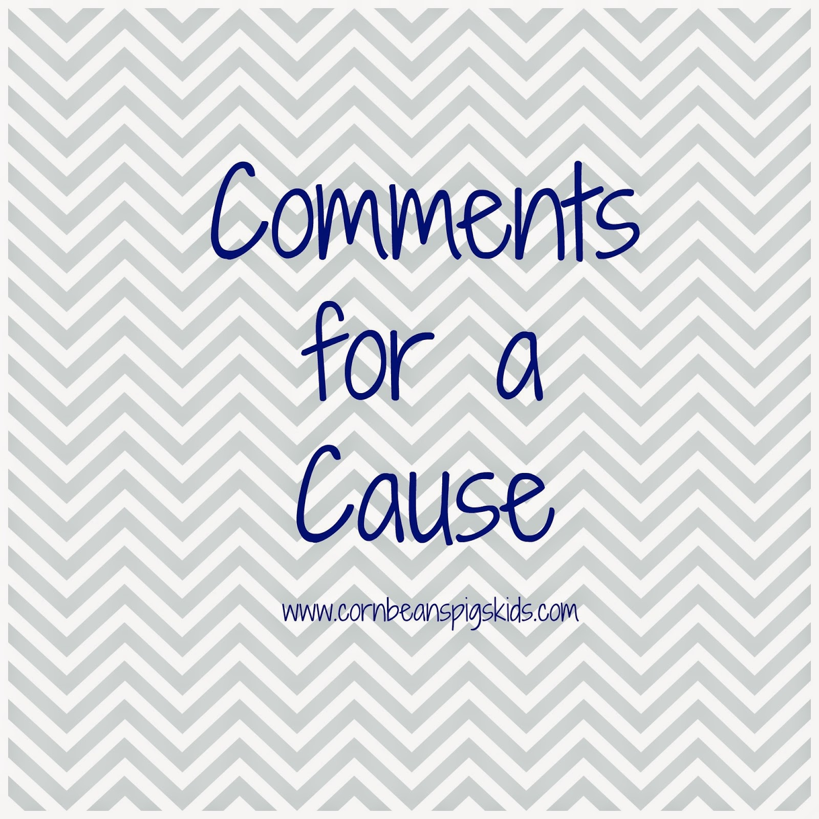Comments for a Cause April 2015 - For each comment on Corn, Beans, Pigs & Kids blog all April long $0.50 will be donated to the Caring Pregnancy Center