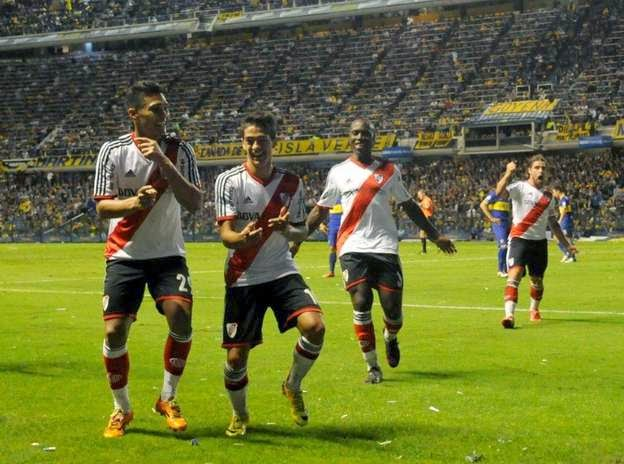 Lanzini, Gol, Bombonera, River, River Plate, Boca, Boca Juniors, superclasico, 2014,
