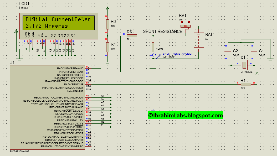 Amazing Simple Digital Current Meter Dcm Using Pic Microcontroller Wiring Database Gramgelartorg