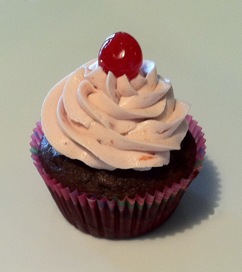 The Great Cupcake Adventure: Chocolate Malt Cupcakes with Cherry ...