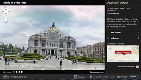Google World Wonders Project - Palacio de Bellas Artes