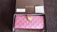 GUCCI HEART GUCCISSIMA LONG WALLET