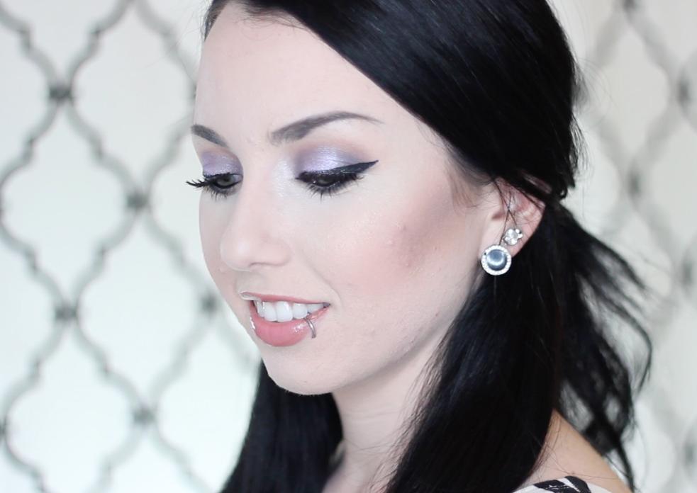 makeup for pale fair skin purple smokey eyeshadow tutorial