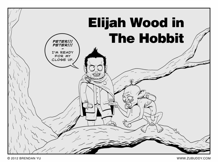 Elijah Wood in The Hobbit