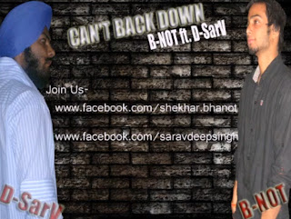 Cant back down B-Not feat D-SarV mp3 download punjabi rap free