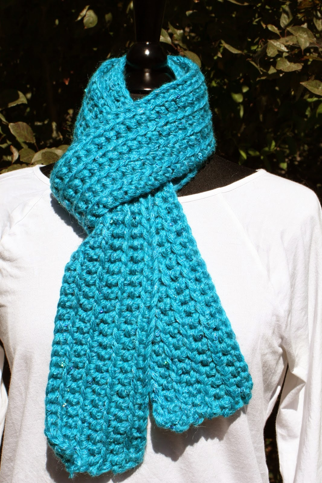 Ribbed Crochet Scarf