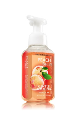 Bath & Body Works, Bath & Body Works Peach Bellini Gentle Foaming Hand Soap, soap, hand soap, hand wash, body wash, bath & body products, beauty products, product review, Pittsburgh, Ross Park Mall