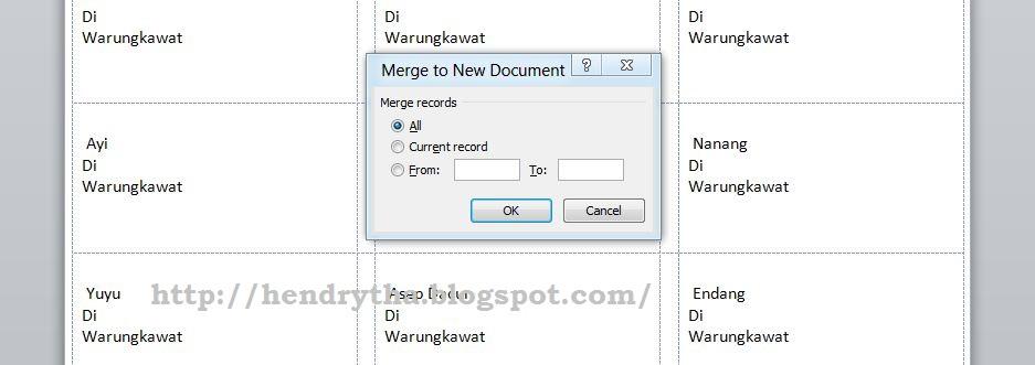 cara Print Label Undangan dengan Mudah