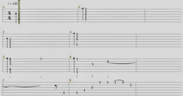 Fingerstyle Tabs : Right Here Waiting ( Richard Mark ) Fingerstyle Tabs