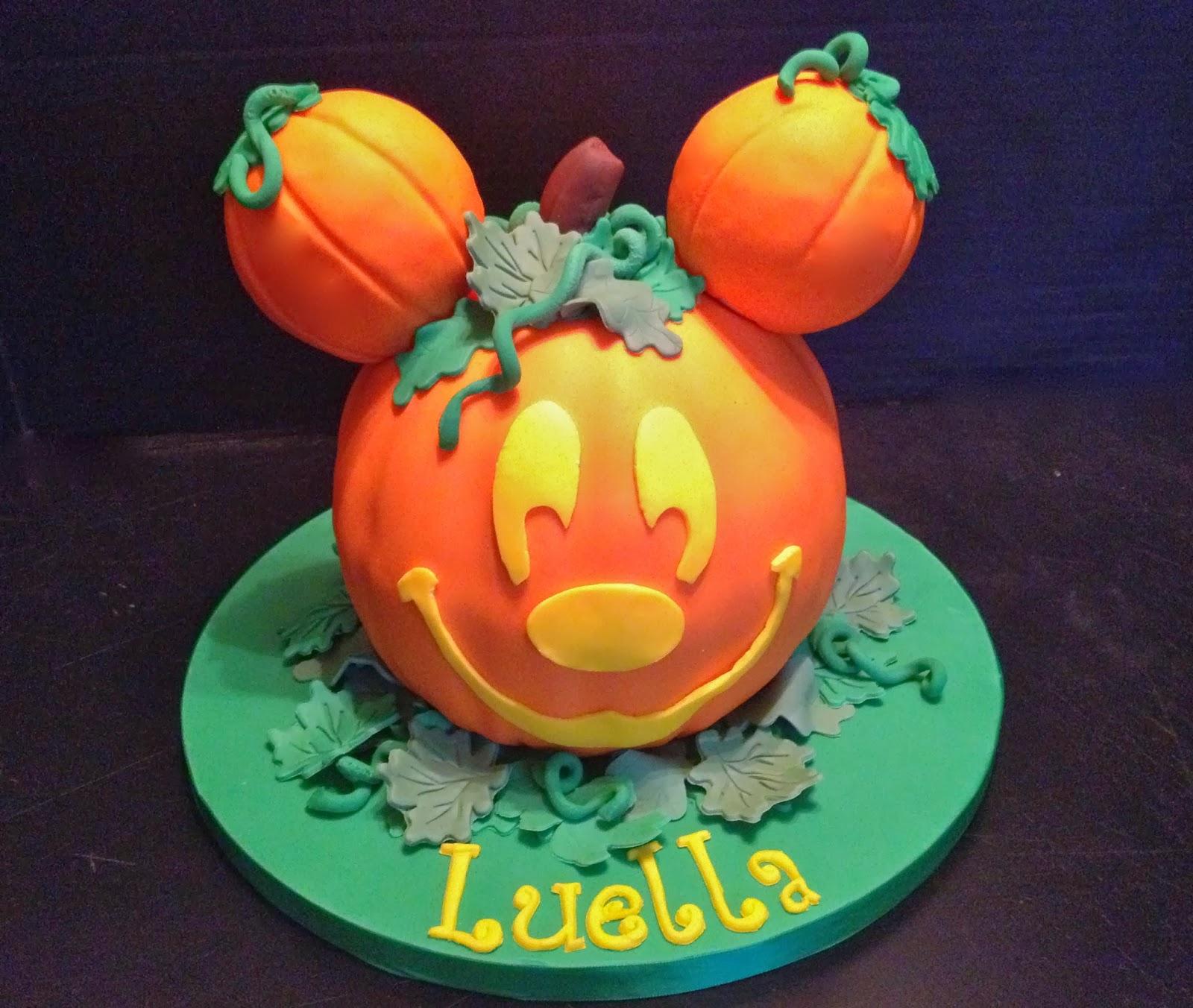 Peace Love Cake Mickey Mouse Pumpkin Cake