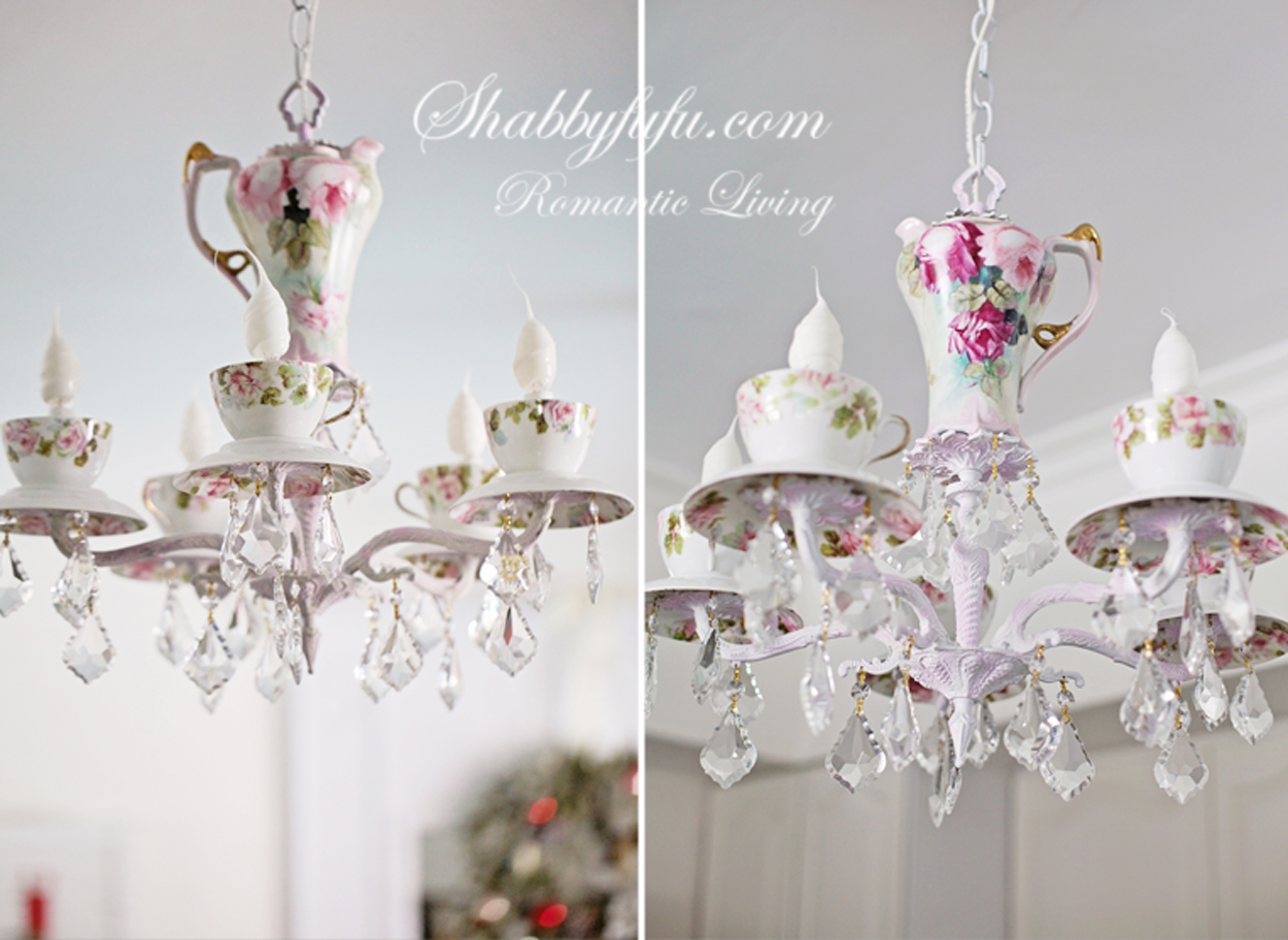 Simple holiday mannequin idea and a new chandelier shabbyfufu a new teacup chandelier finished for a client who recently moved and this will be her third one of ours happy about that and love our repeat clients arubaitofo Choice Image