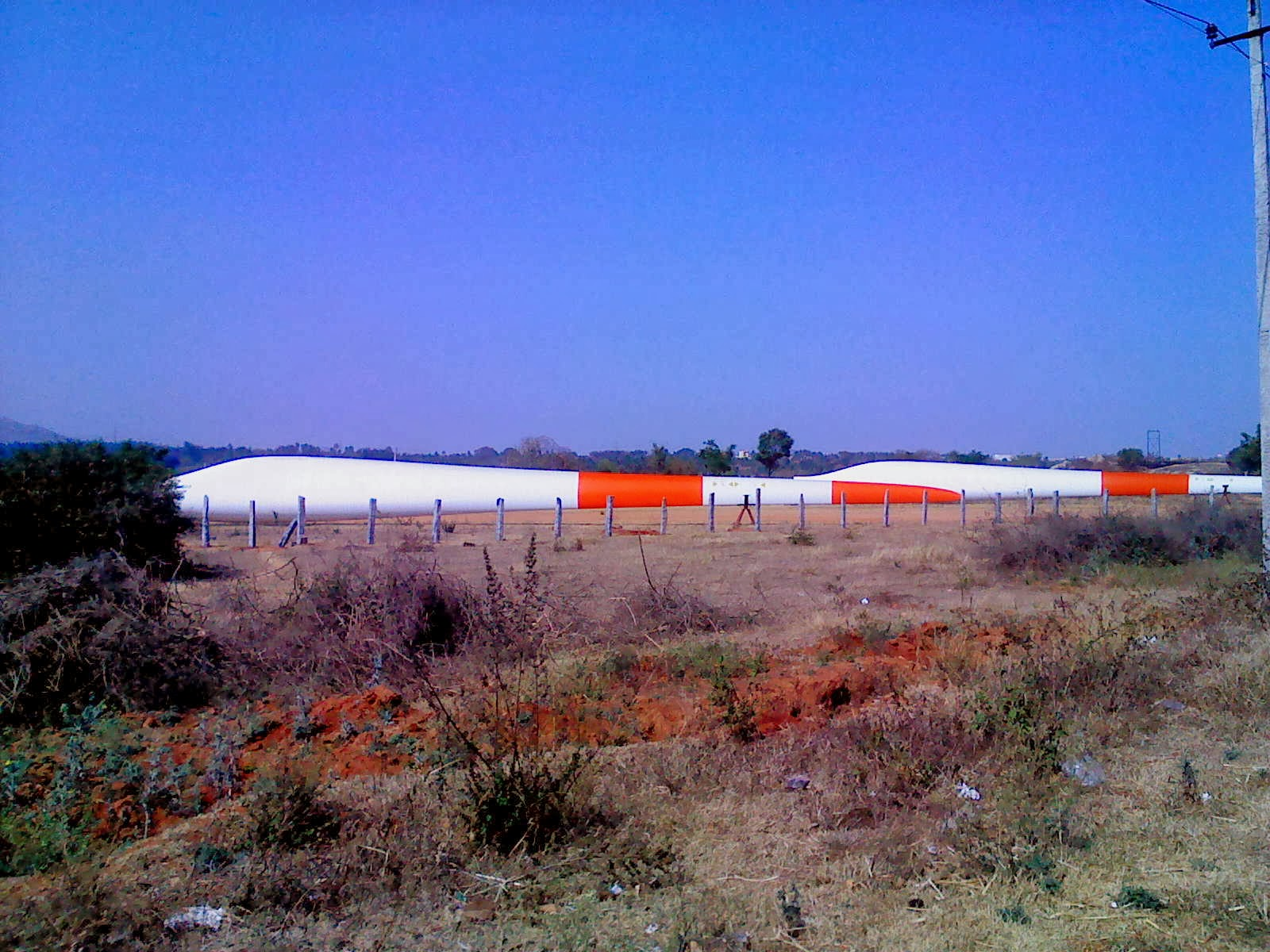 Photo of Windmill blades near SATRAC at Dabaspet