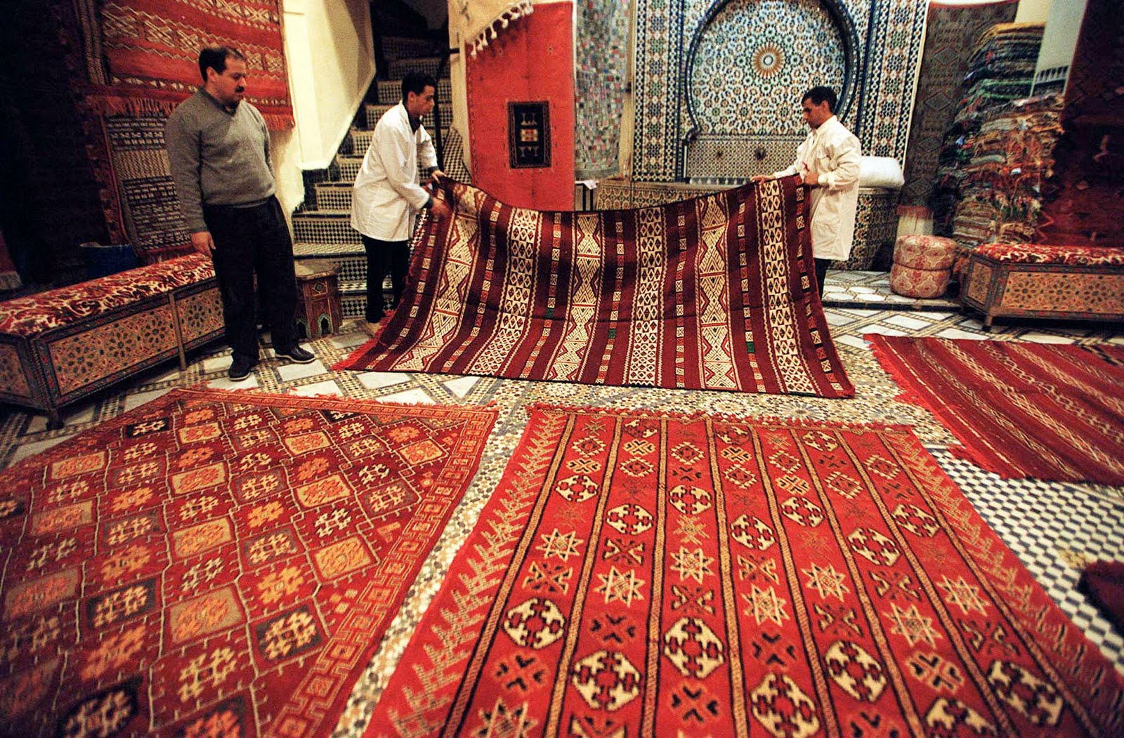 A Typical Fez Carpet Showroom