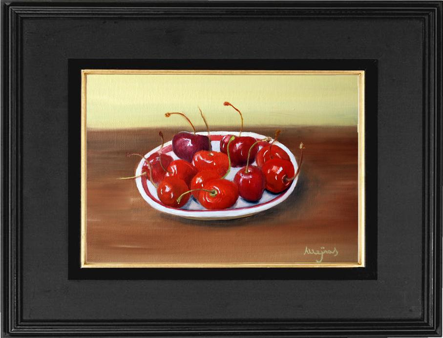 Daily paintings Tamarit- Mejias: Bowl of cherries 10.5 x 7.4 in. Oil ...
