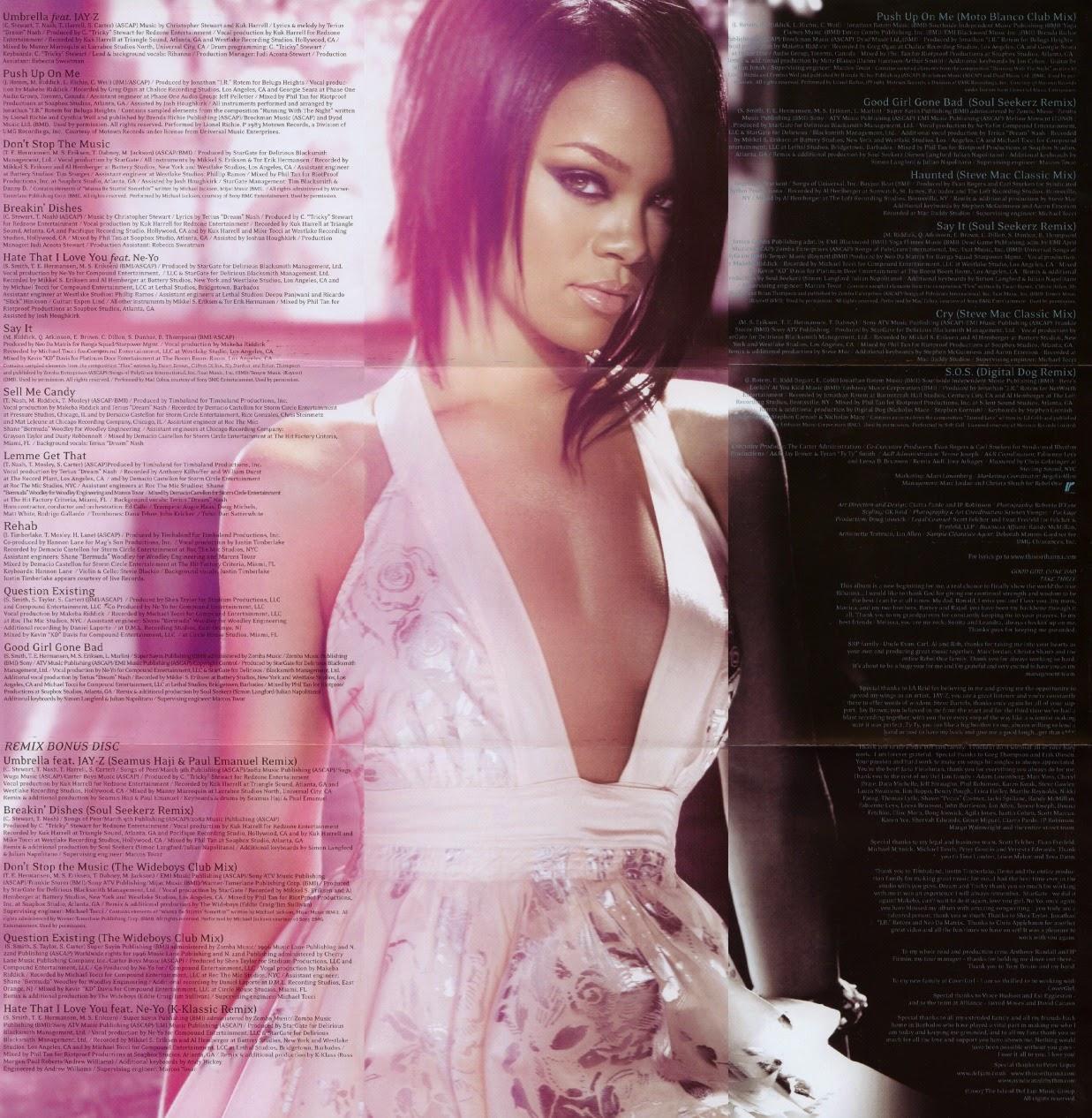 Rihanna-Good Girl Gone Bad The Remixes-2009-RiHANNA Download