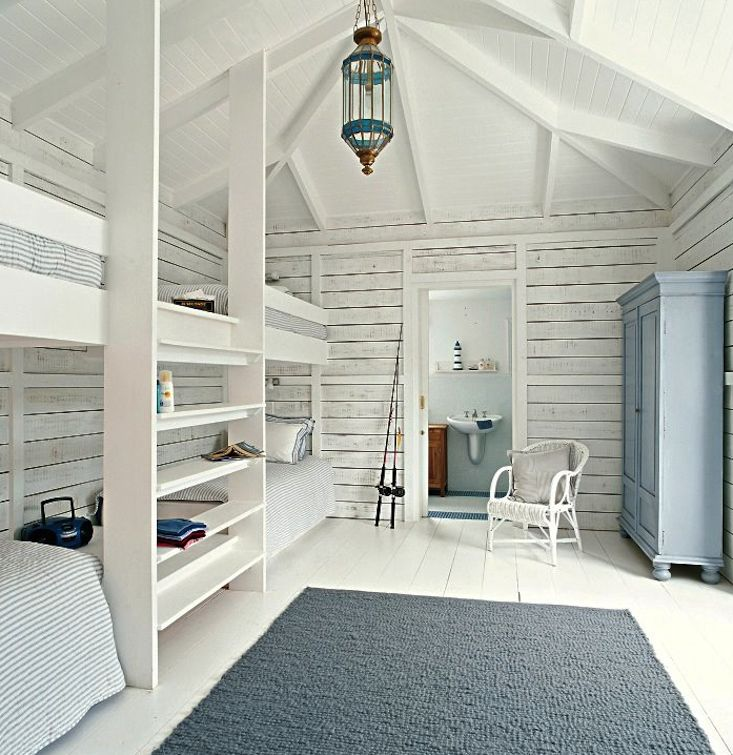whitewashed bunk beds