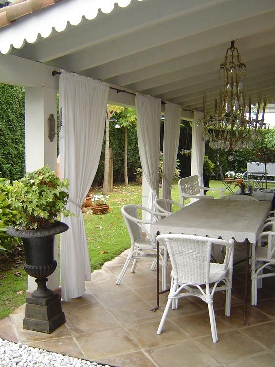 Querido ref gio blog de decora o cortinas leves e - Cortinas para casa de campo ...
