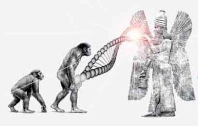 extraterrestres creando al hombre con su adn