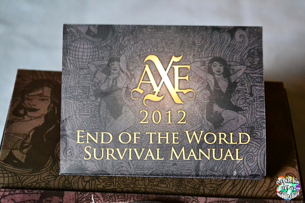 ready for 2012 with axe survival kit recycle bin of a middle child