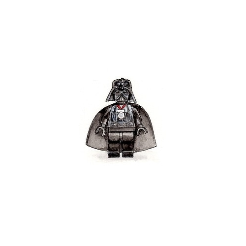 02-Lego-Darth-Vader-Karen-Libecap-Star-Wars-&-other-Miniature-Paintings-and-drawings-www-designstack-co