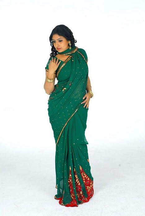 , South India Actress Monica In Green Saree