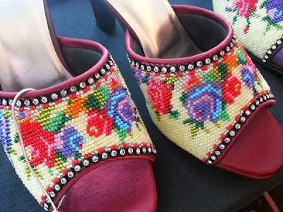 WireBliss - Closeup of Beaded Shoes at BIBCO 2013