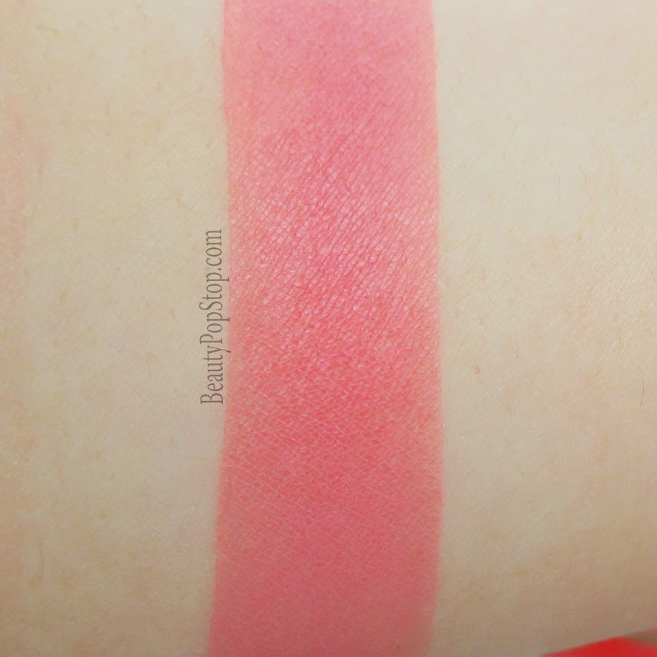 gorgeous cosmetics colour pro powder blush in coral swatch