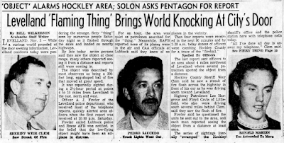 Levelland 'Flaming Thing' Brings World Knocking at City's Door - Lubbock Morning Avalanche 11-4-1957