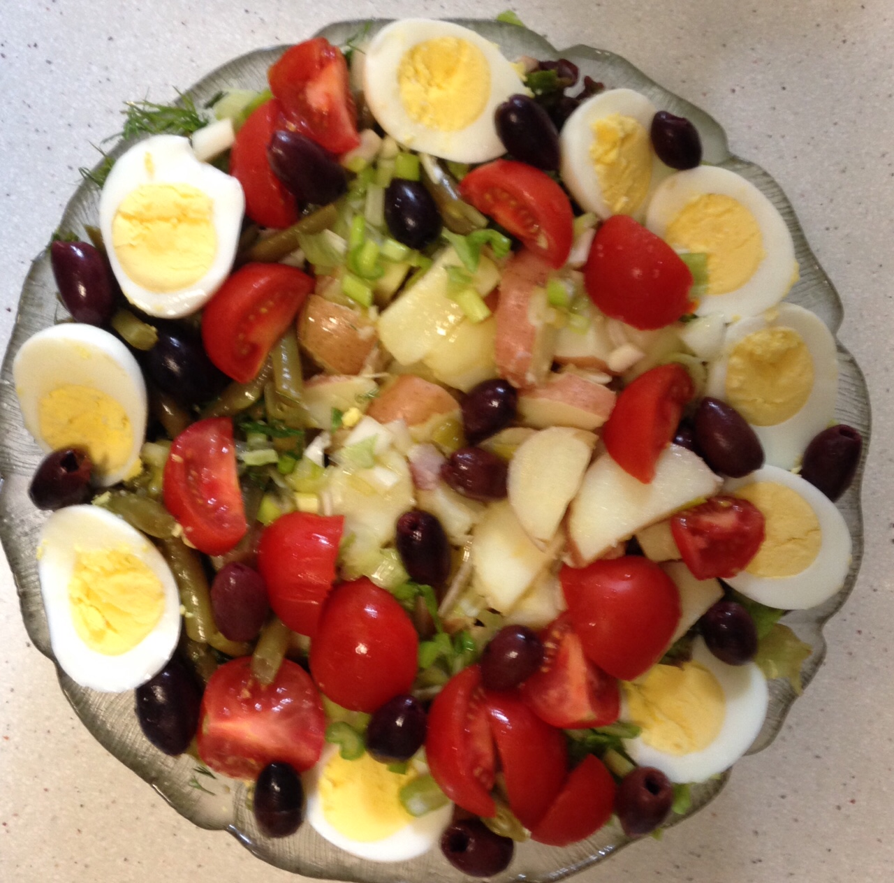 French classic: Salade Niçoise. Often on the menu in neighborhood ...