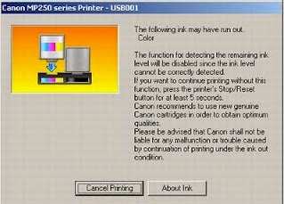 printer canon error