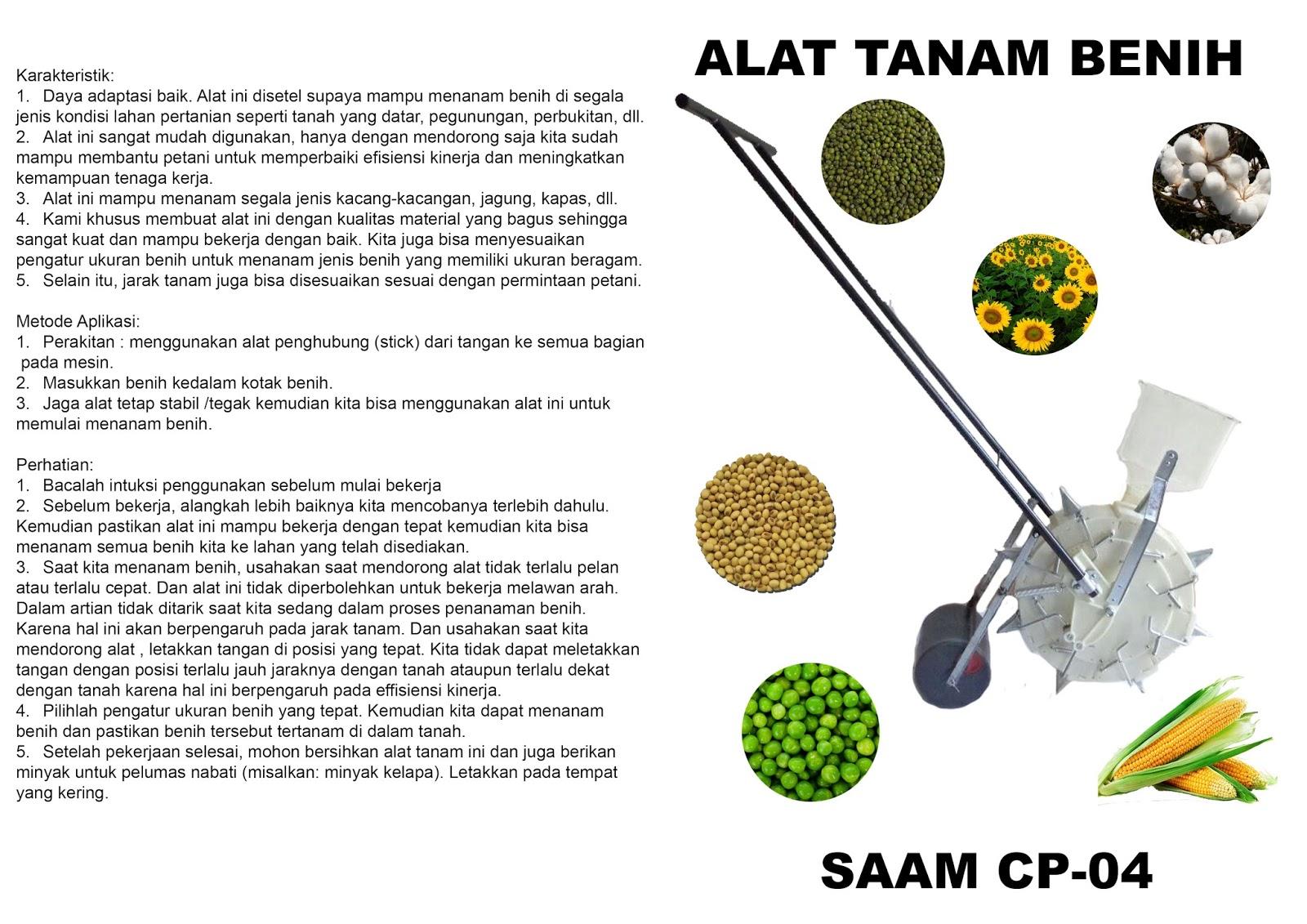 Alat Tanam Jagung Benih SAAM CP04 Santoso Advance