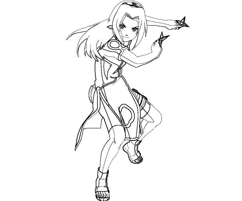 sakura haruno coloring pages - photo#18