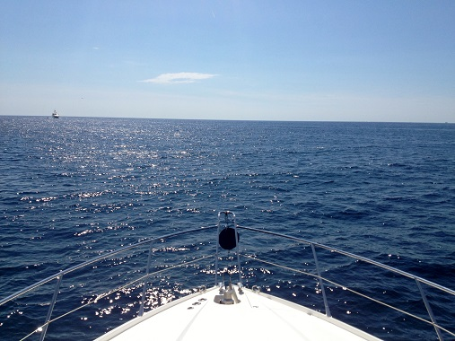 Yacht view at sea