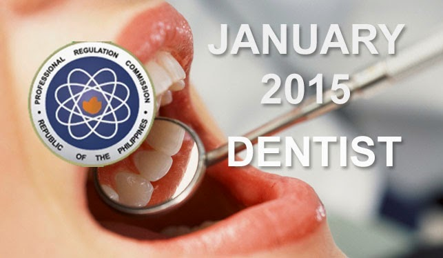 January 2015 Top 10 Dentist Board Exam Passers (Practical Phase)