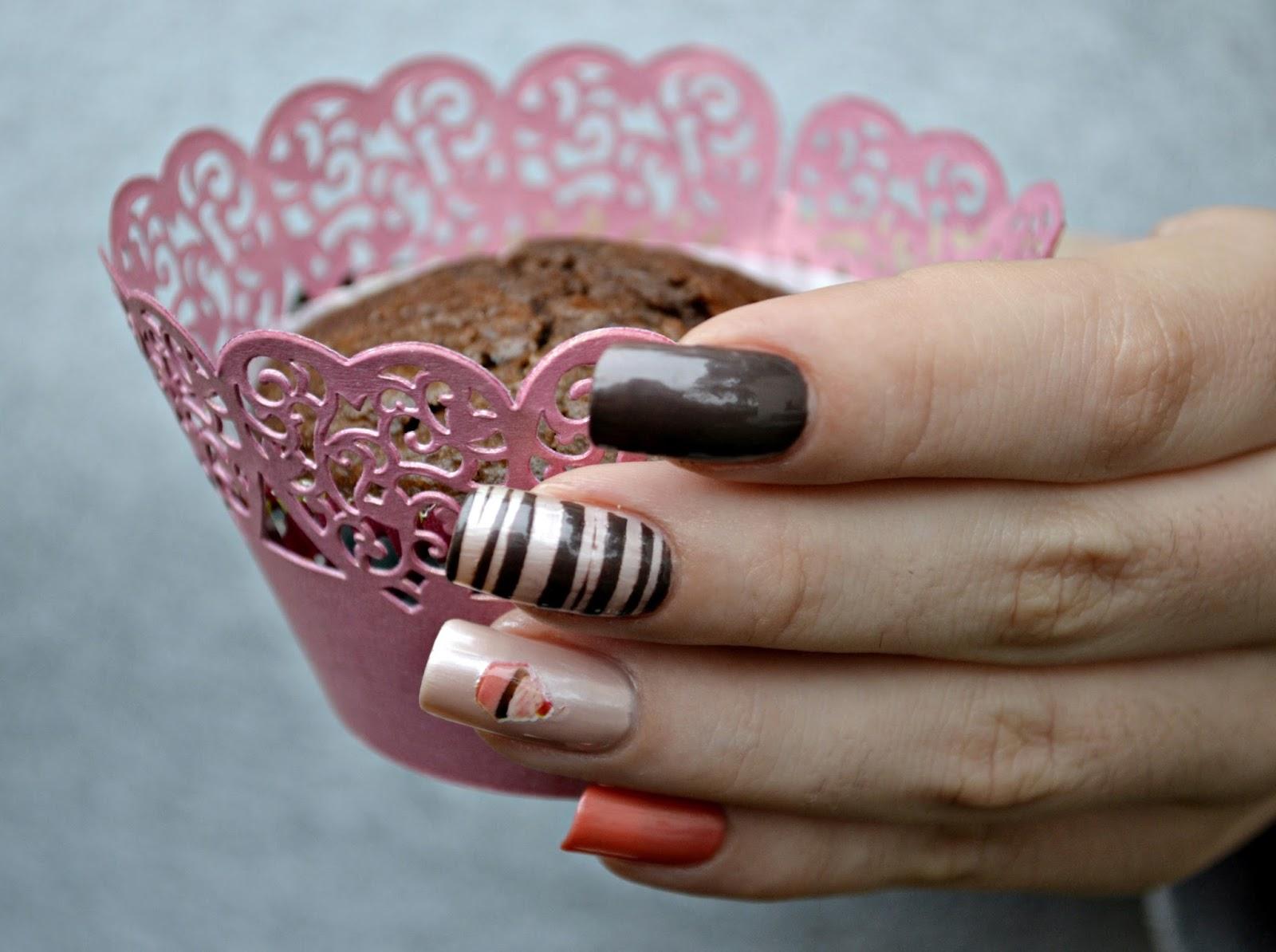 Skittlette muffins manicure