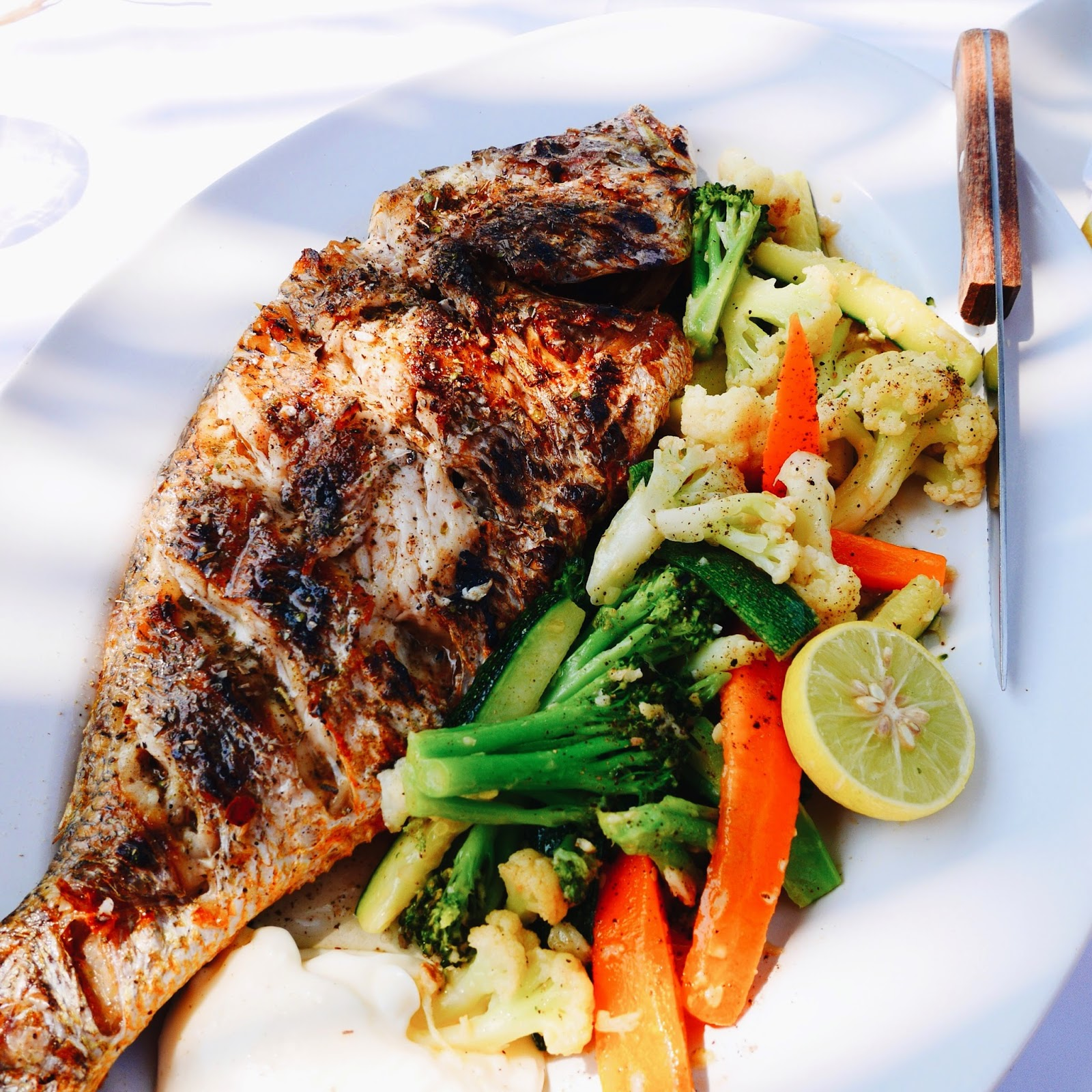 Grilled Red Snapper at Thalassa, Goa