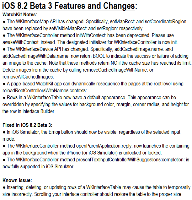 Apple iOS 8.2 Beta 3 (Build-12D5452a) Features, Changes, Changelog