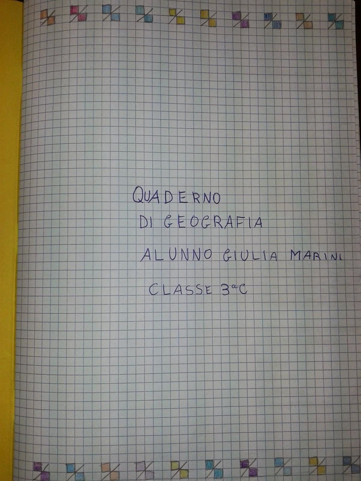 La Maestra Maria Ti Saluta Geografia Classe Terza