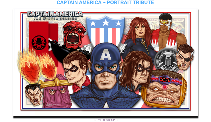 Cap America - Portrait Tribute