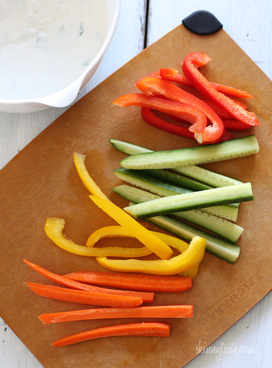 Veggie Shooters (Crudites With Skinny Ranch Dip) Recipes — Dishmaps