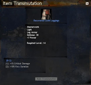 Guild Wars 2 Item Transmutation