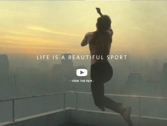 O grande salto, vídeo da Lacoste