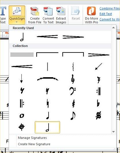 Music symbols and names
