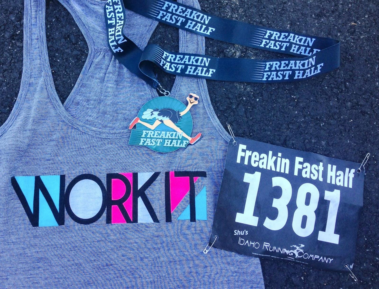 Freakin' Fast Half Marathon, Boise Runner, Downhill Half Marathon, Gordman's Athletic Wear