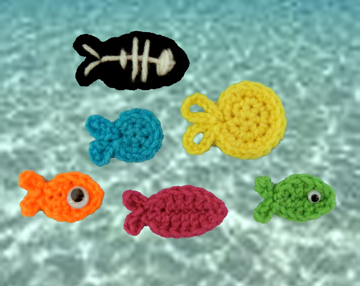 Ravelry: Crochet Fish Motif pattern by Eboni A. Johnson