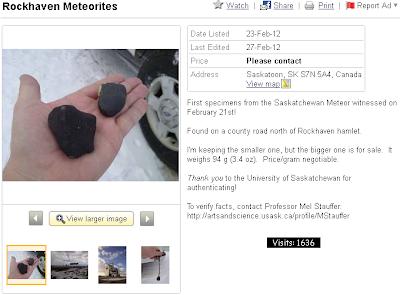 Rockhaven meteorites
