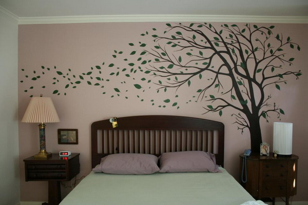 Gallery For Wall Paintings For Bedrooms Tree