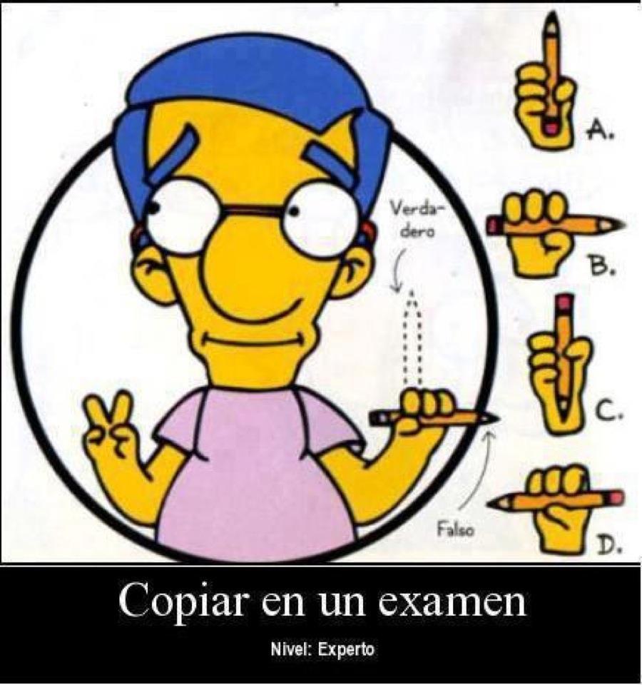 Copiar en un Examen